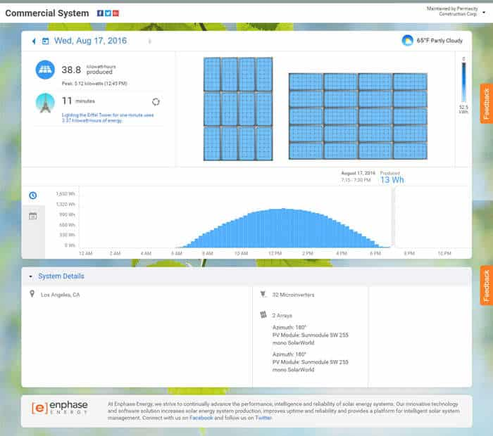Click to view Gen7 Classroom - Brentwood School's solar production live