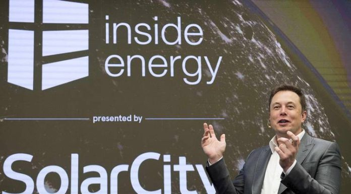 Elon Musk, the chief executive of Tesla and SolarCity's Chairman