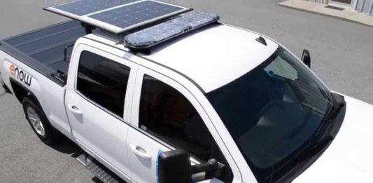 Solar Panels Installed on a Solar Refrigerated Truck