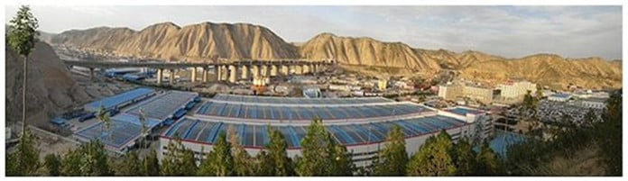 A Photovoltaic Power Plant in Northwest China