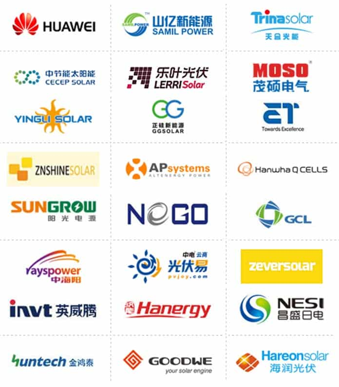 Registered Exhibitors of the 2016 2nd China Solar PV Online Expo