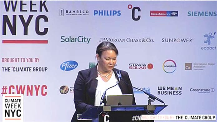 Lisa Jackson at the Climate Week conference