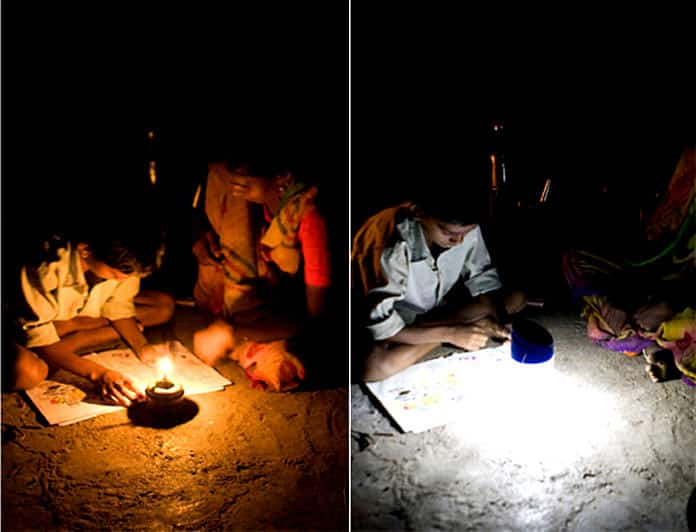 Kerosene Lighting vs. d.light Solar Lighting