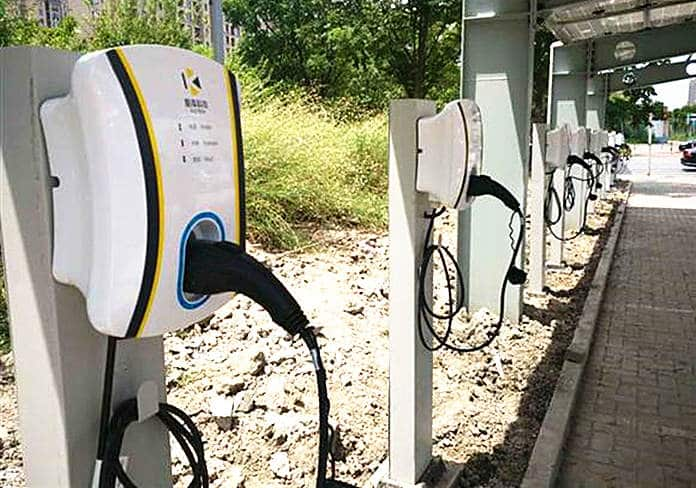 Solar Power Charging Piles in Yinxing-Songhu Road Public Transport Hub