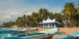 Christian Church by the Beach in Trincomalee, Sri Lanka