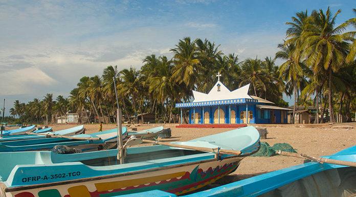 Christian Church by the Beach in Trincomalee, Sri Lanka