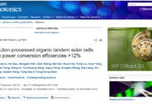Organic Solar Cells with Efficiency of 12.7% by Prof. Chen