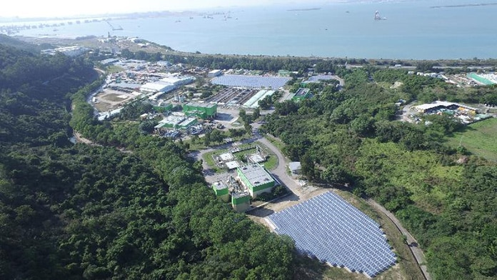 Planform of the Solar Power Farm at the Siu Ho Wan Water Treatment Works