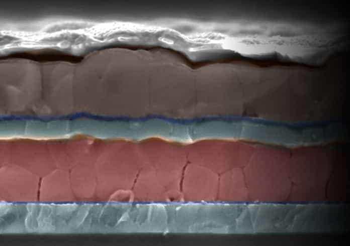 Cross-Section of a New Tandem Solar Cell