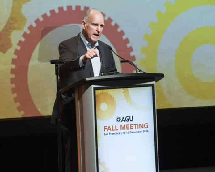 Governor Jerry Brown at AGU Meeting, Dec 2016
