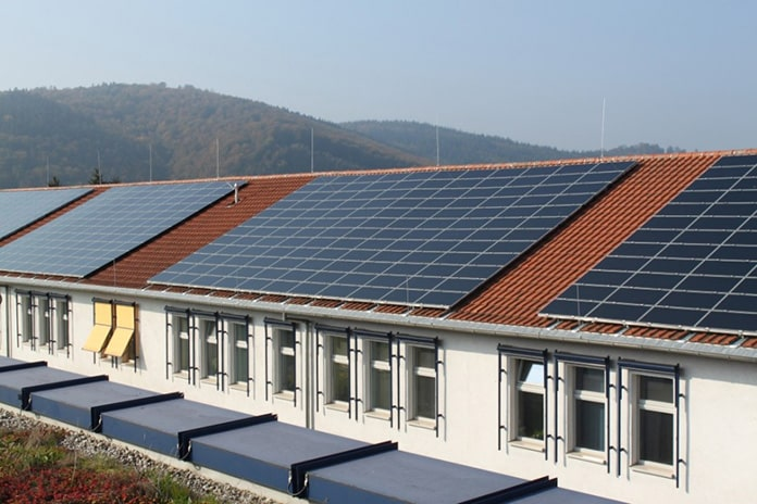 Rooftop Solar PV Mounted on a Model Secondary School Building