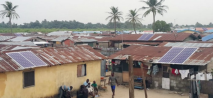 Solar-Powered Rural Community in Africa