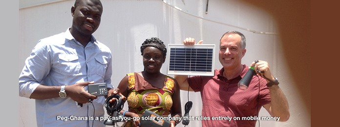 Team from a PAYGO solar firm in Ghana