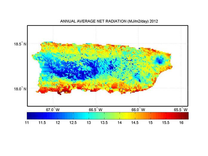 2012 Puerto Rico Annual Average Net Radiation