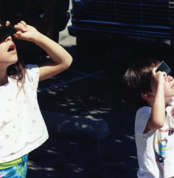 Children Watching Solar Eclipse