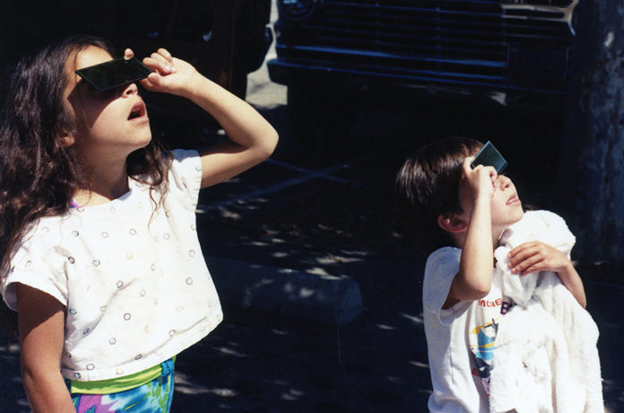 Children Watching Solar Eclipse
