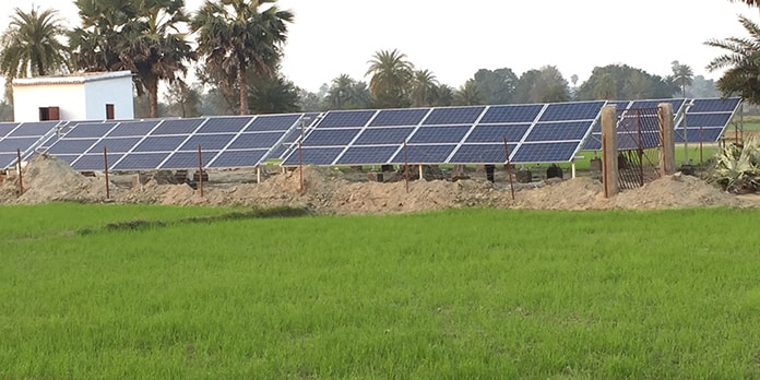 Rural India PV Installation