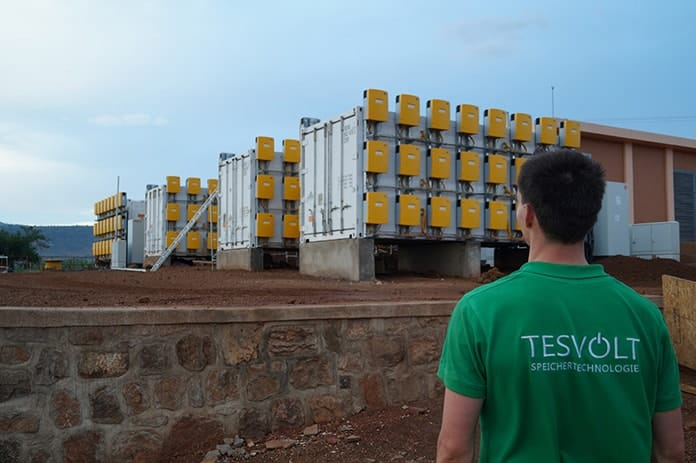 Tesvolt's off-grid power supply for water distribution on 2000 ha, Rwanda