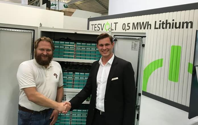 Torsten Schreiber, Managing Director of Africa Green Tec, and Simon Schandert, Director of Engineering at Tesvolt