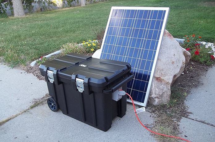 Portable Solar Power System Used in Arica