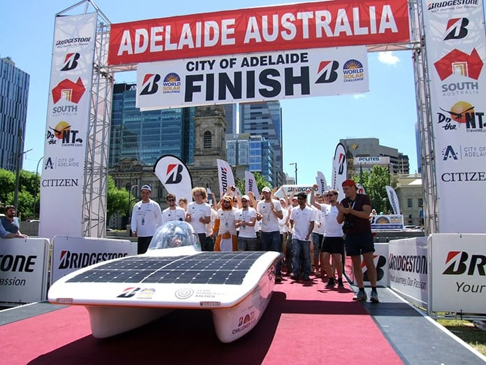 Sonnenwagen Finishes the Race - Victoria Square Adelaide