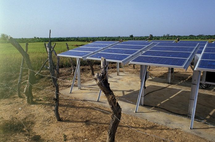 Solar Panels on a Farm, Mali