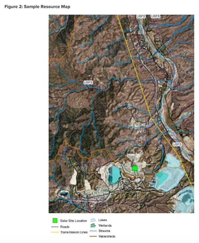 RMI Sunshine for Mines Sample Resource Map