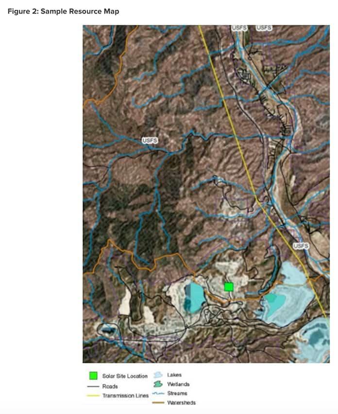 RMI Sunshine for Mines Sample Resource Map