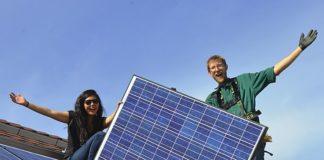 Volunteers for RE-volv Community Solar Installation