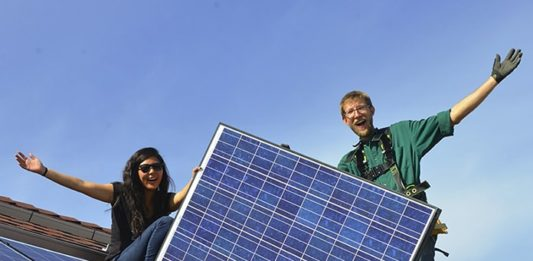 Volunteers for RE-volv Community Solar Installation