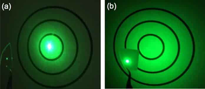 Scattering Ability of Flat Fused Silica and 6 μm Height Nanograss Glass