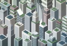 Modern Smart Renewable City Landscape