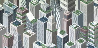 Modern Smart Renewable City Landscape