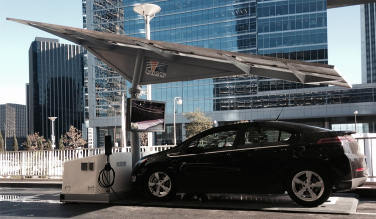 The EV ARC Charging Station by Envision Solar
