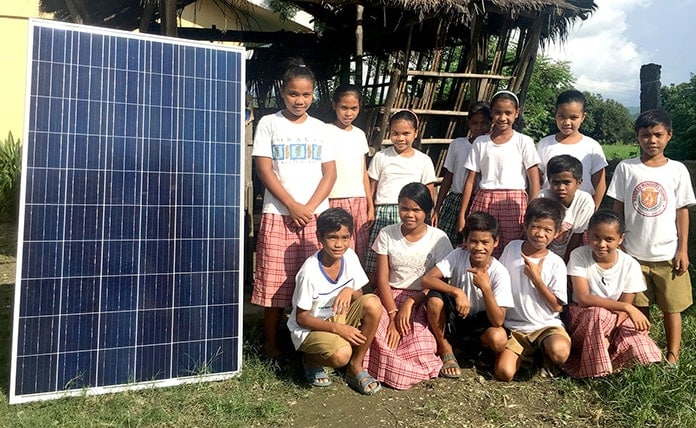 Solar Panels in a Philippines' Village