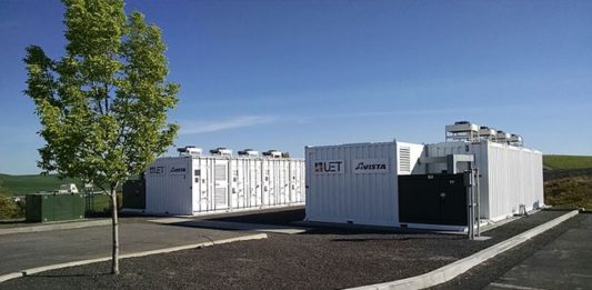 Containerized Vanadium Flow Battery Owned by Avista Utilities and Manufactured by UniEnergy Technologies
