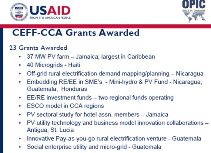CEFF-CCA Grants Awarded