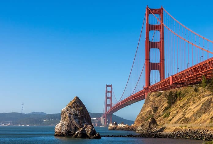 California Golden Gate Bridge - Global Climate Action Summit