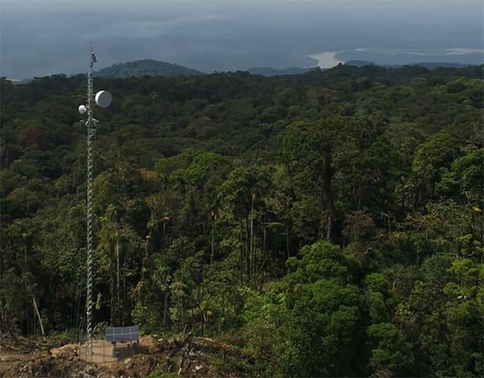 Atalaya Wireless Tower and Solar Storage System
