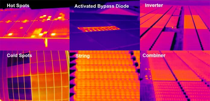 Unmanned Drones Degradation and Hotspots Detection of Solar Panels