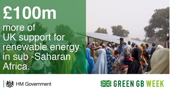 U.K. Government: £100 Million for Renewable Energy Projects in Africa