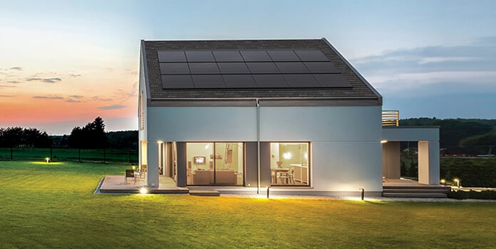GAF Energy's Decotech Modern House With Solar Roofing