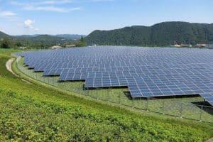 The Aikawa Solar Power Plant in Kanagawa Pref., Japan