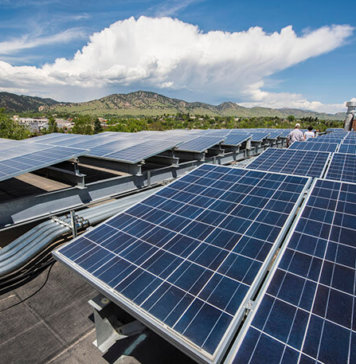 Solar PV Modules Installed on the Walnut Place, Boulder