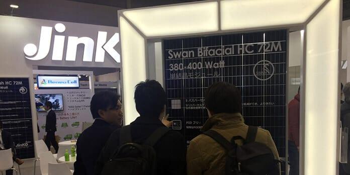Jinko Solar's Swan Bifacial Solar Panels at PV Expo in Japan