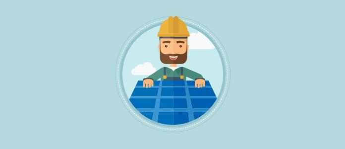 Solar Energy Profiles - Solar Man Installing Solar Panels on Roof