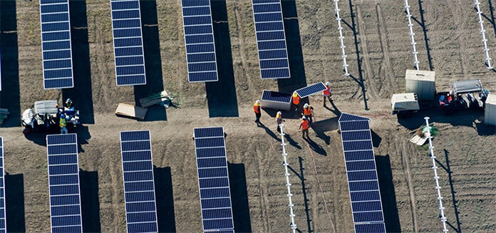 Total Installing Solar PV Modules on Solar Farms