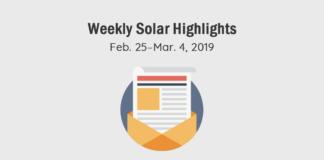 Solar Energy News Highlights Cover: Feb. 25–Mar. 4, 2019