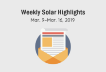Solar Magazine Weekly Solar Highlights: Mar. 9–Mar.16 2019