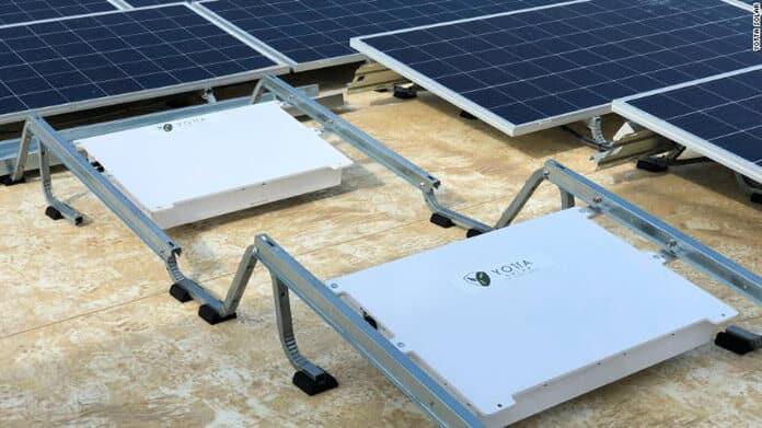 Yotta Solar's Energy-Storing Devices Kept Under Photovoltaic Solar Panels